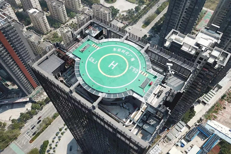 广东茂名·东信时代广场 屋顶直升机停机坪
